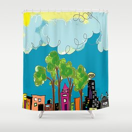 JL The City View Shower Curtain
