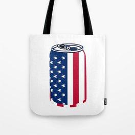 American Beer Can Flag Tote Bag