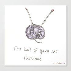 This Ball of Yarn has Antennae. Canvas Print