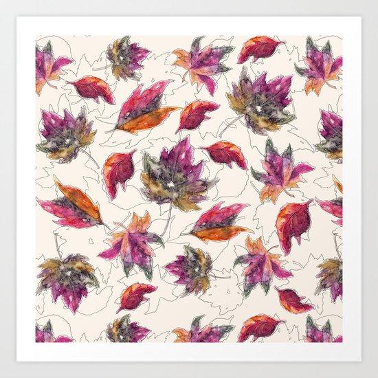 Maple Pattern Art Print
