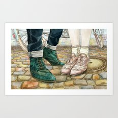 Brogues for a date Art Print