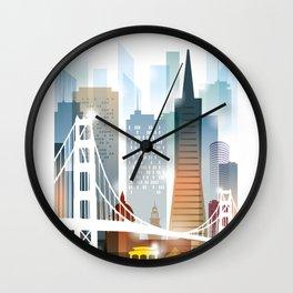 City of San Francisco painting Wall Clock