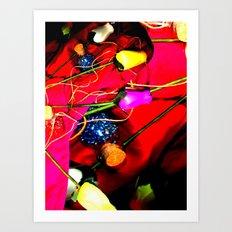 Plastic Flowers 1 Art Print