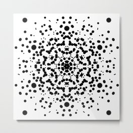 Rorschach Mandala Metal Print