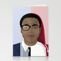 childish gambino Stationery Cards featuring Donald Glover x Childish Gambino by Mathieu Duparcq