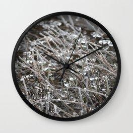 Jeweled River Grass Wall Clock