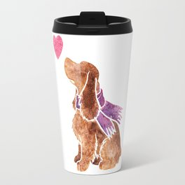 Watercolour English Cocker Spaniel Travel Mug