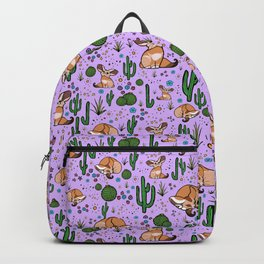 Cute Cactus and Fennec Fox Backpack