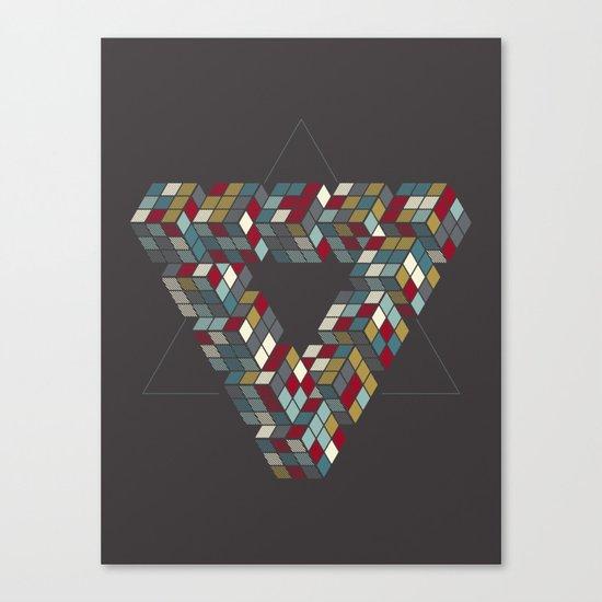 Rubik's Triangle Canvas Print
