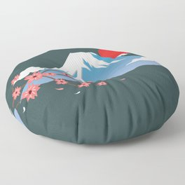Mount Fuji Floor Pillow