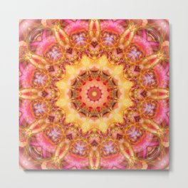 Be Free Mandala Metal Print