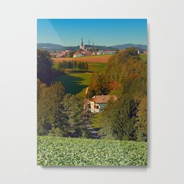 Walking home into the village center | landscape photography Metal Print