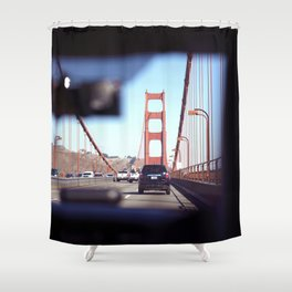 From the Backseat, Driving Across the Golden Gate Shower Curtain