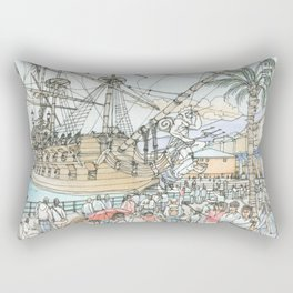 Neptune, the Galeon Rectangular Pillow