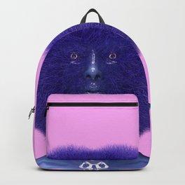 Furry Heart Head Backpack