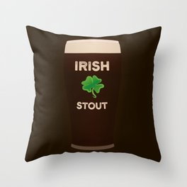 Irish Stout Throw Pillow