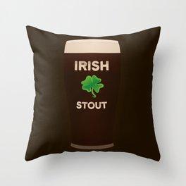 Irish Stout Throw Pillow