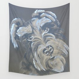 Inquisitive Schnauzer Wall Tapestry