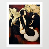 mirror Art Prints featuring Mirror by Biba Kayewich