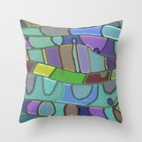 angels Throw Pillows featuring Angels by Betty Mackey