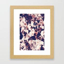 Cats. Forever. Framed Art Print