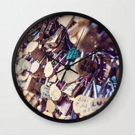 Paris Love Locks Wall Clock