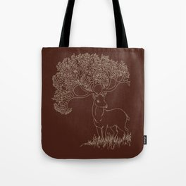 Fractal Point Buck Tote Bag