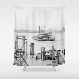 New Orleans 1900 Shower Curtain