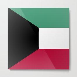 Kuwait flag emblem Metal Print