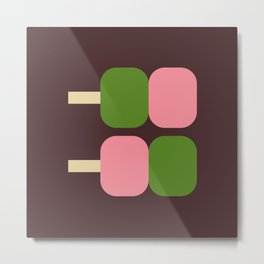 Japan Dango Sweet Metal Print
