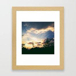 shine for me Framed Art Print