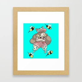 Cats, Puppies, and Bees Framed Art Print