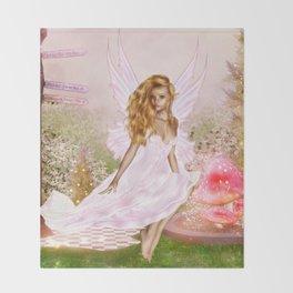 Pink Opal Throw Blanket