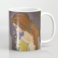 belle Mugs featuring Belle by carotoki art and love