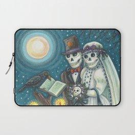 CEMETERY NUPTIALS - Susan Brack Skeleton Halloween Wedding Laptop Sleeve