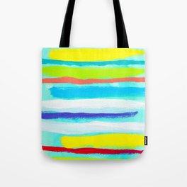 Ocean Blue Summer blue abstract painting stripes pattern beach tropical holiday california hawaii Tote Bag