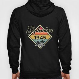 Vintage 75th Birthday September 1945 Sports Gift Hoody