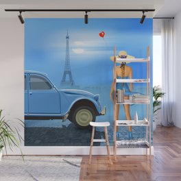 French blue Wall Mural