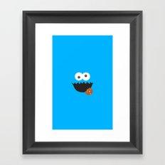 Cookie Monster Framed Art Print