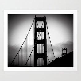 """Golden Gate Foggy Bridge"" Art Print"