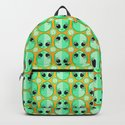 Happy Alien and Daisy Nineties Grunge Pattern by chobopop