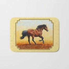 Running Bay Horse Bath Mat