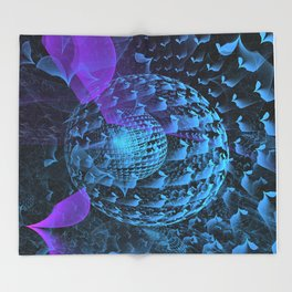 Spherical Abstract Throw Blanket