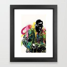 Biggie Smalls Spray Paint Illustration Framed Art Print