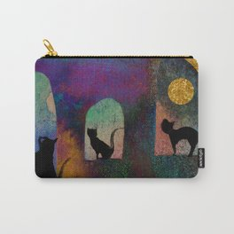 Cats and moon Carry-All Pouch