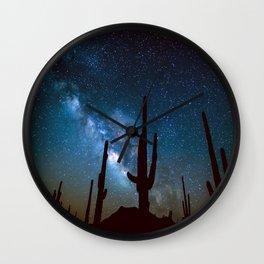 Milky Way Cacti Wall Clock