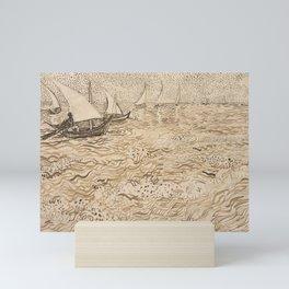Boats at Saintes Maries by Vincent van Gogh, 1888 Mini Art Print