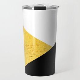 Gold & Black Geometry Travel Mug