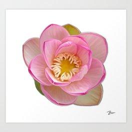 Digitally Painted Flower Art Print