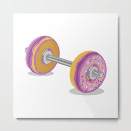 Donut Work-Out Metal Print